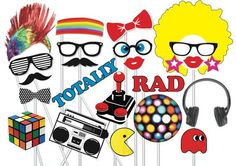 how to make 80's photo booth props? - Google Search