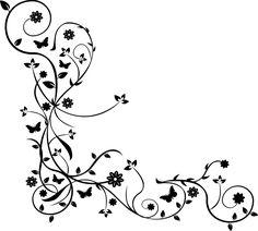 Blumenranken Tattoo Vorlage Frauen zarte, kleine Blumen
