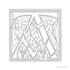 Print Free Alphabet Stencils Celtic H  Printables Graphics