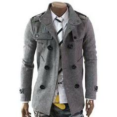 Doublju Mens Double PEA Wool Half Trench Coat I need to find out where I can find a physical store for the Doublju company. Winter Fashion Outfits, New Outfits, Stylish Men, Men Casual, Stylish Jackets, Stylish Clothes, Casual Clothes, Winter Clothes, Mens Winter Coat