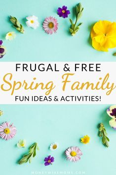 Keep your entertainment expenses low with these FREE and Frugal Spring Family Fun activities. So much to do together, both indoors and out! Rainy Day Activities, Indoor Activities, Family Activities, Fun Ideas, Frugal, Entertainment, Spring, Free, Budget