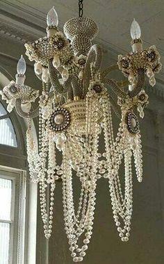 Pearls chandelier.
