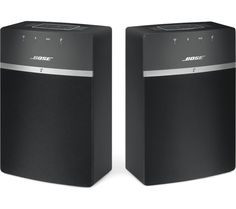 BOSE SoundTouch 10 Wireless Smart Sound Multi-Room Speakers - Set of 2, Black, Black Price: £ 249.00 Top features: - Multi-room audio in any room with WiFi and Bluetooth devices - SoundTouch app for straightforward control from your phone or tablet Multi-room audio Enjoy high-quality audio throughout your home with the Bose SoundTouch 10 Wireless Smart Sound Multi-Room Speakers . Fill your...