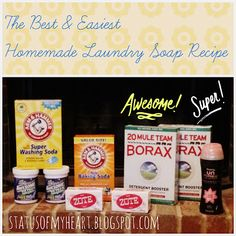 Easy Homemade Laundry Detergent Soap Recipe Status Of My Heart