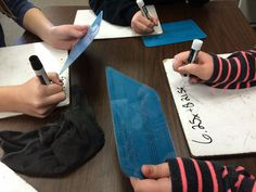 6th grade math students solving these algebra math enrichment problems during math workshop. Here they are practicing writing and solving two-step equations! Read all about this and other algebra activities by clicking through to my blog!