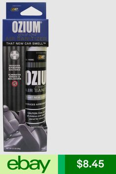 Ozium Smoke Odor Eliminator Air Sanitizer Freshener 3 5oz New Car