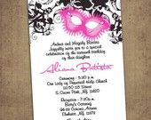 Modern Quinceanera Photo Moderne Invitations Sweet Sixteen. $25.00, via Etsy.