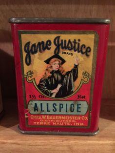 Spice Tin - Jane Justice  - Crazy Rare!