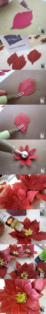 Papercrafted Poinsettia Tutorial by Vivian Keh