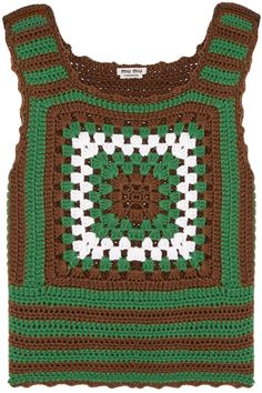 Miu Miu|Crocheted cashmere top|NET-A-PORTER.COM