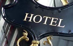 Detail of a Hotel Sign  Paris