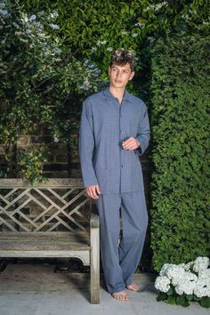Ultimate Hygge feels with these classic mens pyjamas. Nightwear and loungewear made by Bonsoir of London.