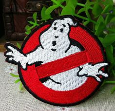 Ghostbusters iron on patch E034 by happysupply on Etsy, $2.90