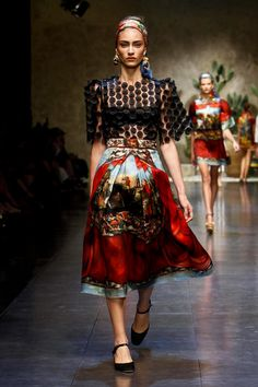 Dolce & Gabbana have continuously found new ways of viewing the birthplace of Domenico Dolce in each successive show. This season the designer duo turned to the idea of local summer festi...