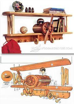 Airplane Shelf Plans - Children's Furniture Plans and Projects   WoodArchivist.com