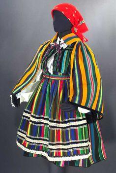 Authentic Woman's Folk Costume Poland Opoczno Polish peasant ethnic embroidery Slavart
