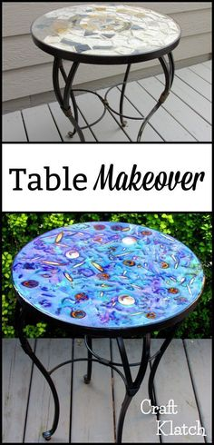 Learn how to makeover a table that was found at the curb & ready for the trash!  Ultimate transformation!  #howto #diy #diys #craft #crafts #crafting #howto #ad #handmade #homedecor #decor #makeover #makeovers #redo #repurpose #reuse #recycle #recycling #upcycle #upcycling #unique #furniture #furnituremakeover #furnitureredo #thrifting #thriftstore #resin #nature #craftingwithnature #garbagetogorgeous