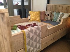 WoodXL junior bed and FERM living bedding...