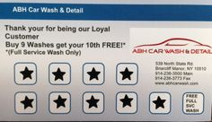 David, one of our frequent customers just got a free wash today! Thank you David for your business! You can get a free Full Service Wash too after 9 visits! #carwash #thankyou #loyalty #free #abh #abhcarwash #westchester