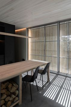 Hinterhouse Prefab Retreat in Quebec, Canada by MRDK | Yellowtrace Architecture Design, Polished Concrete Flooring, White Mosaic Tiles, House Shutters, Compact House, Hotel Concept, Open Plan Living, Built In Storage, Large Windows