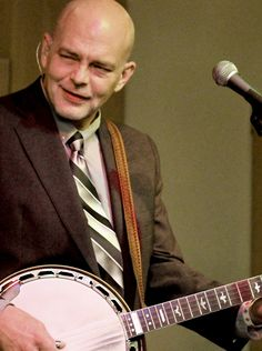 Award winning banjo player and leader of Lonesome River Band at performing at Hope Cafe in Raleigh, NC