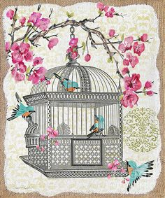 Birdcage With Cherry