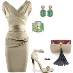 """Talbot Runhof dress"" by lellelelle on Polyvore"