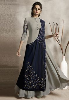 Indo Western Outfits: Buy Indo Western Dresses For Women Designer Party Wear Dresses, Kurti Designs Party Wear, Lehenga Designs, Indian Designer Outfits, Party Dresses, Frock Fashion, Fashion Dresses, Fashion Pants, Fashion Edgy