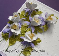 Flower Tutorial - Selma's Stamping Corner and Floral Designs: Susan's Garden Columbines
