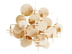Sculptural Bau pendant light