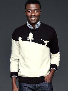 Ski man crew sweater   Gap