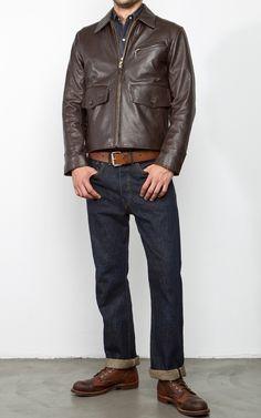 Golden Bear Bayshore Jacket Horsehide Dark Brown