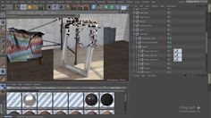 Tutorial No.33 : Creating a classic metal picture frame  Material using VrayForC4d