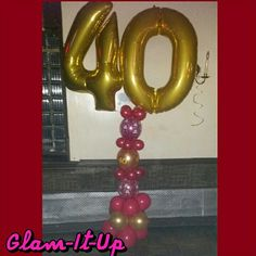 40th Birthday balloon by Glam-It-Up Exclusive Designs