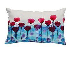 Cojín en algodón Flores - 60x38 cm