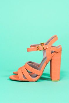 Coral Chunky Heel | uoionline.com: Women's Clothing Boutique