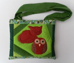 "Reduced! Child's Bag, Beautiful, Unique, Quilted ""Owl and the Pussycat"" design £20.00"