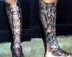 17 Awesome armor tattoo leg images
