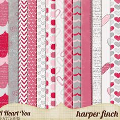 Harper Finch: I heart you! I really, really do! freebies