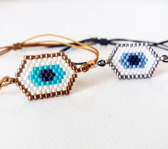 Love my new line of jewels for Spring/Summer season, with all handmade 🌟 Have you checked it yet? Evil Eye Bracelet, Spring Trends, Bead Weaving, Beaded Jewelry, Spring Summer, Jewels, Beads, Bracelets, Earrings