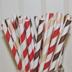 Paper Straws Sock Monkey Party 30 Assorted Paper by ThePartyFairy, $5.00