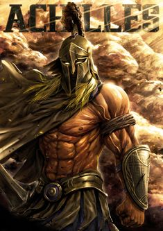 A picture of Achilles looking bad-ass. Greek Mythology Gods, Roman Mythology, Greek Gods, Greek Warrior, Fantasy Warrior, Fantasy Character Design, Character Art, Gladiator Tattoo, Spartan Tattoo