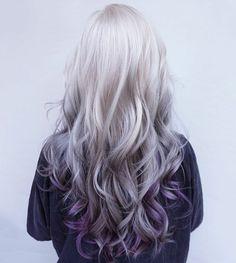 silver hair purple