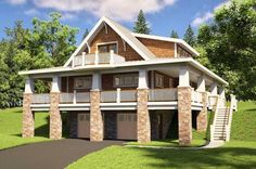 HOUSE PLAN 7806-00006 – This beautiful Country house plan features a drive under garage and amazing outdoor space on the exterior of the home. The interior floor plan is highlighted with approximately 2,161 square feet of space that offers three bedrooms and two plus baths on the basement foundation.
