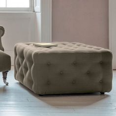 Havannah Field Ottoman  A design classic with generous button detailing for the ultimate in comfort and luxury.