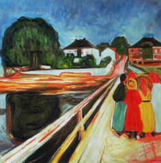 At the Bridge by Edvard Munch