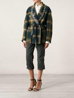 Isabel Marant Checked Coat - Luisa World - Farfetch.com
