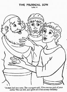 Prodigal son comes home Bible coloring page | Prodigal Son ...