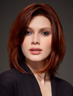 Red hairstyles medium hair. Click to see more details.