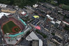 Parachuting over Fenway Park #Baseball